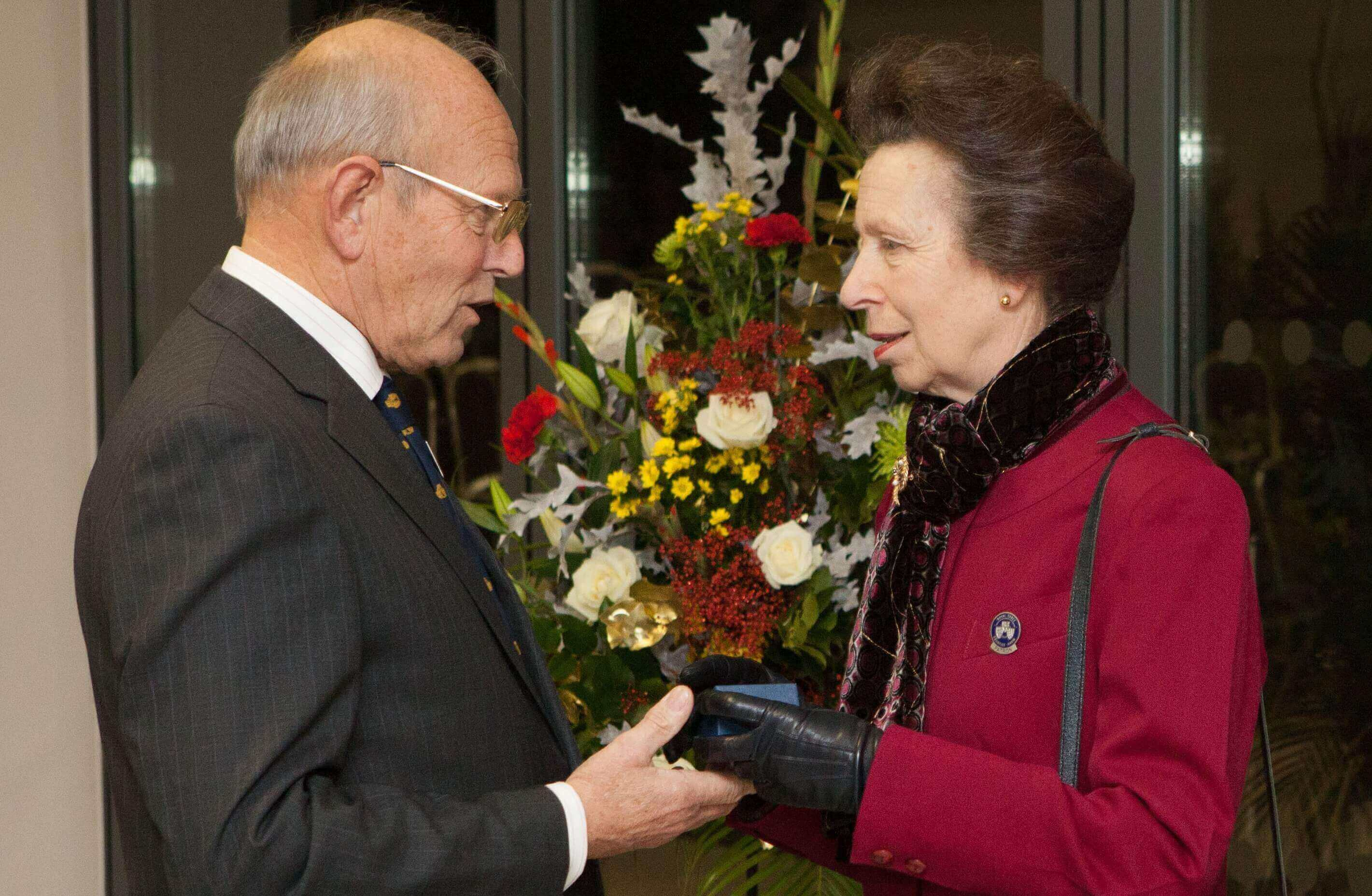 Arthur Hurran receiving his Honorary Life Governorship from HRH The Princess Royal.jpg