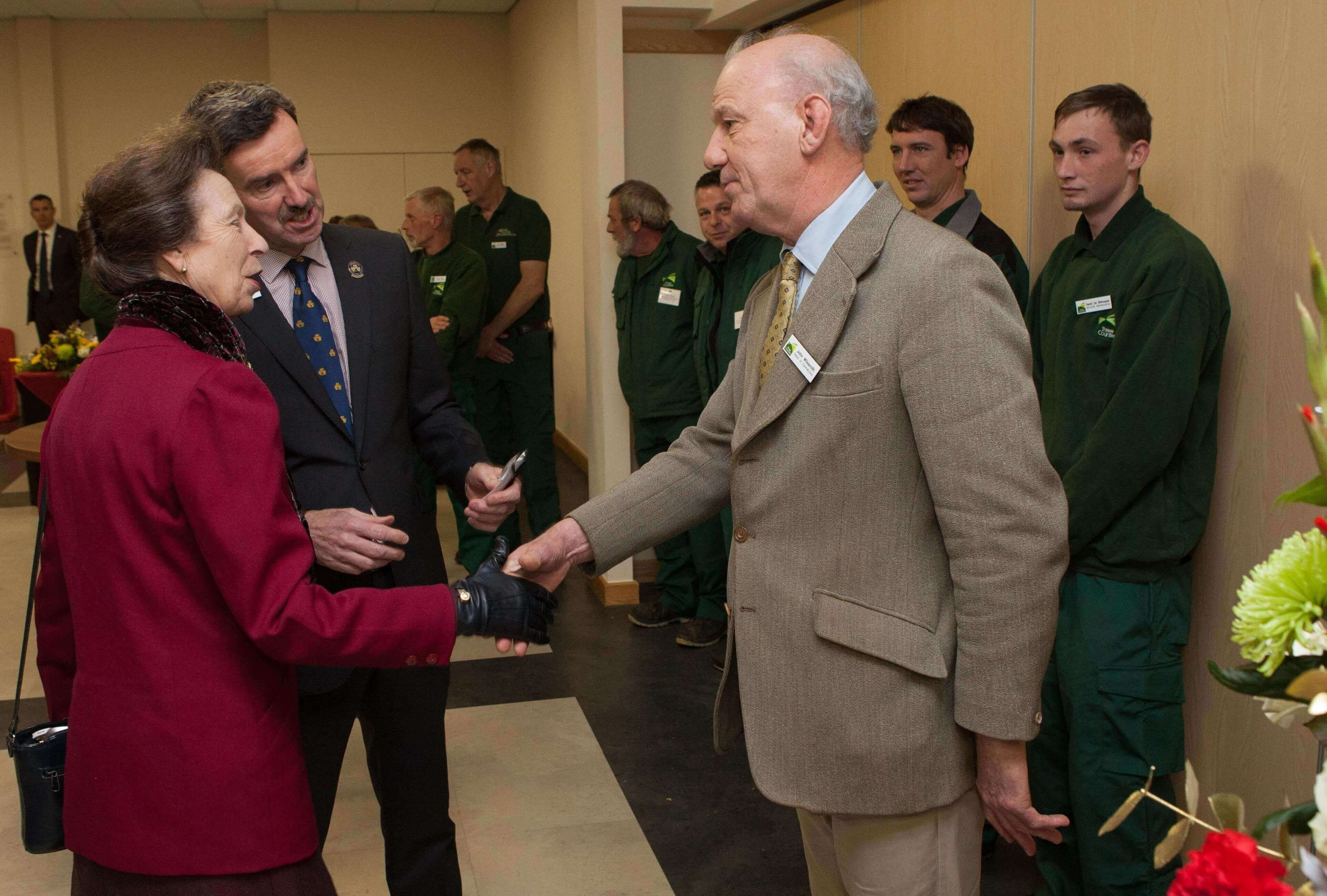 HRH The Princess Royal meeting John Wilesmith Head of Estates Three Counties.jpg