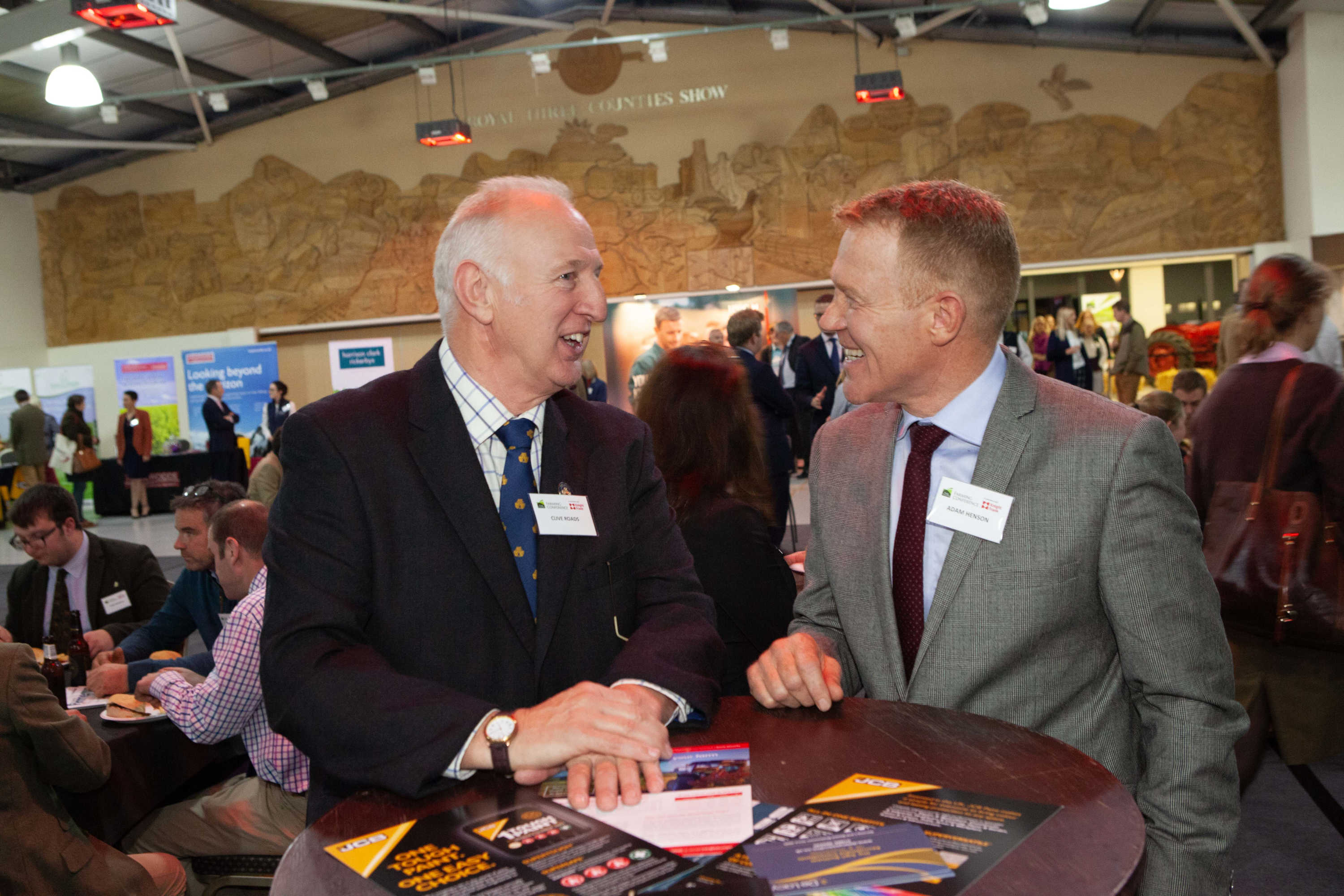 Three Counties Chairman of Council Clive Roads with Three Counties Farming Conference Chair Adam Henson.jpg