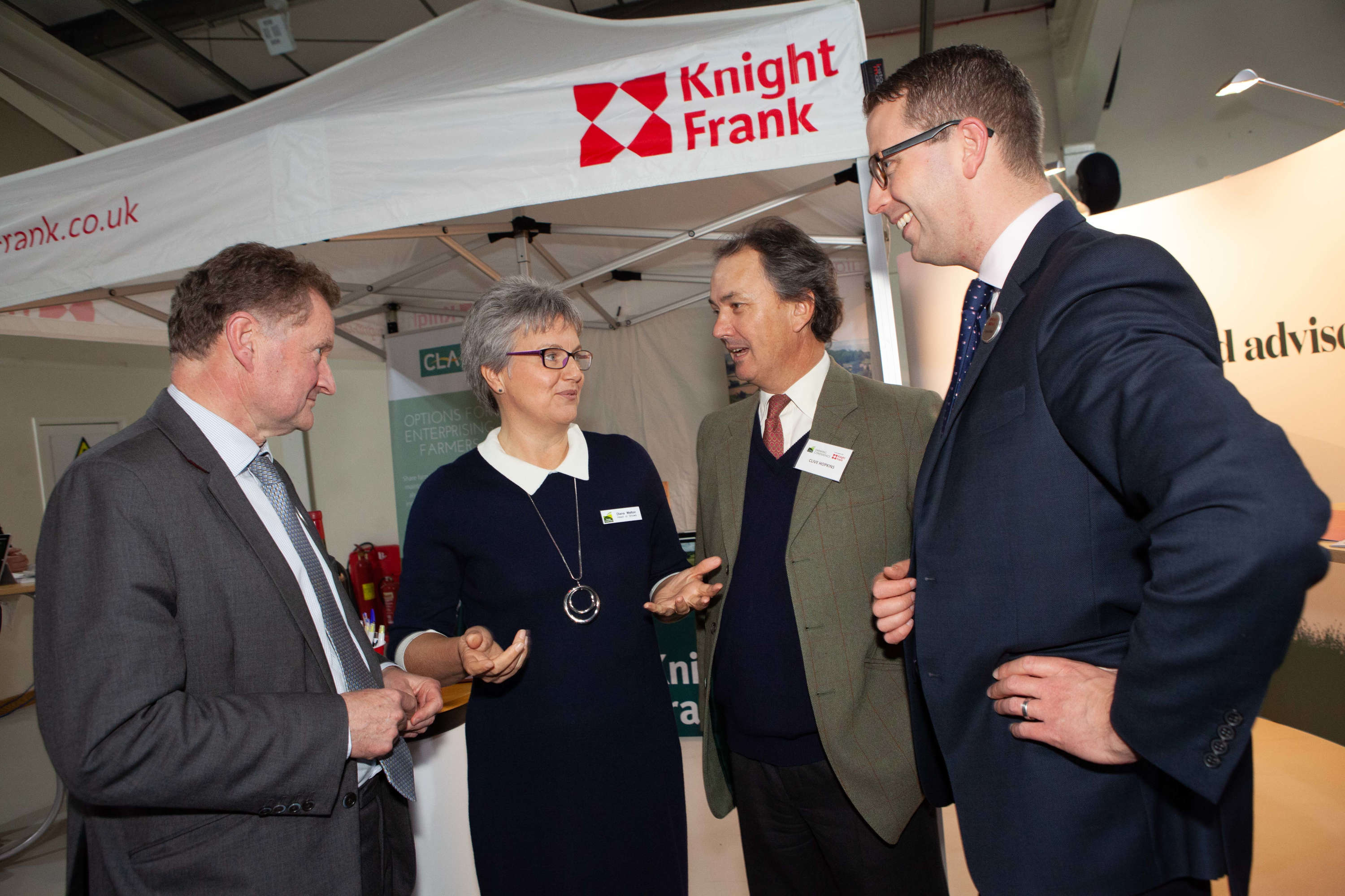 Three Counties Head of Shows Diana Walton with representatives from Headline Partner Knight Frank.jpg