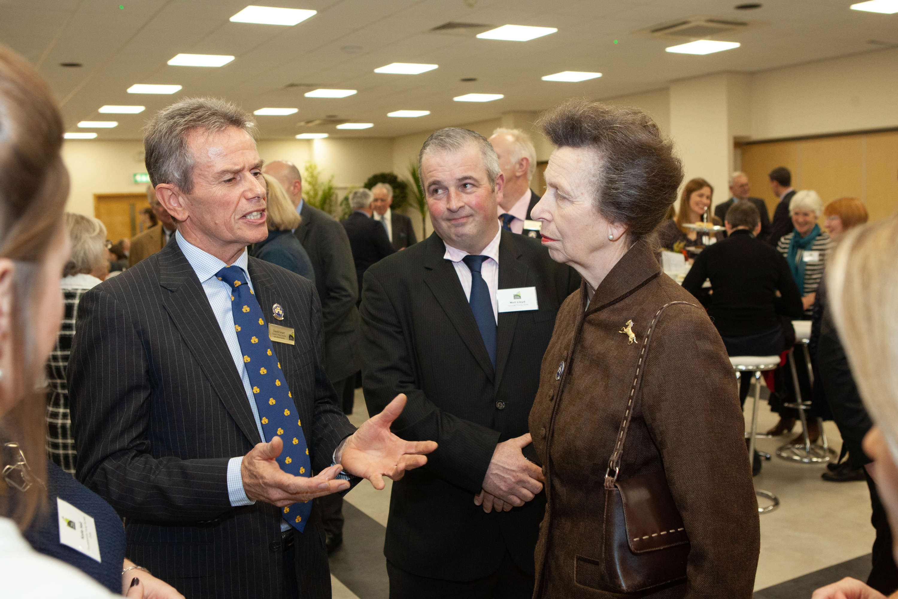 HRH The Princess Royal meeting David Smart, Council Member Three Counties.jpg