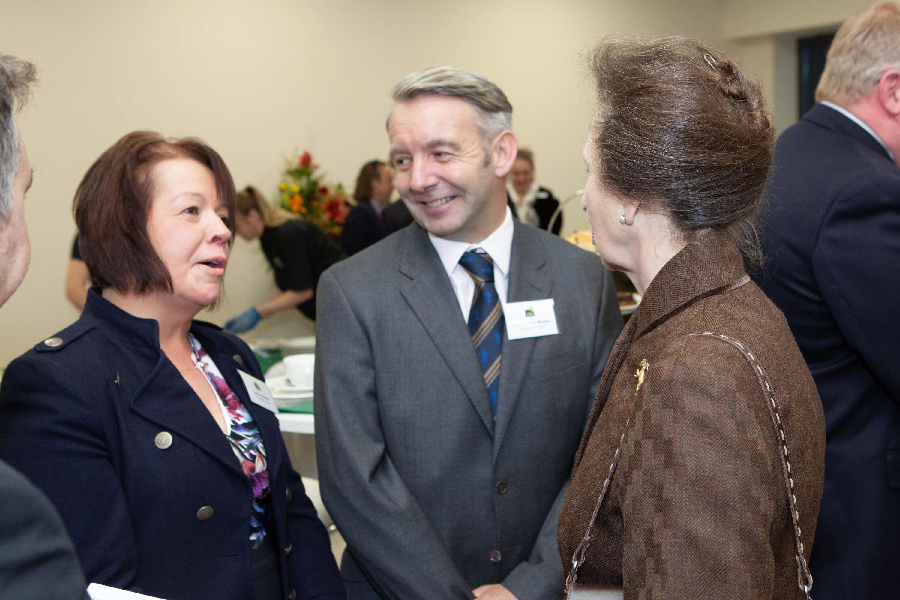 HRH The Princess Royal meeting Louise Beech and Christopher Waltho from Woodpecker Joinery.jpg