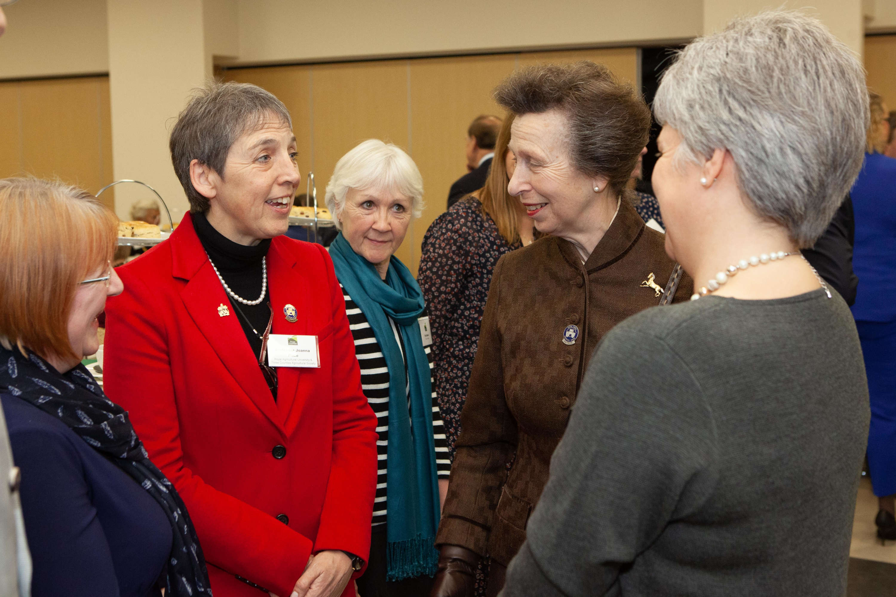 HRH The Princess Royal with Professor Joanna Price and Jennie Stewart from Royal Agricultural University.jpg