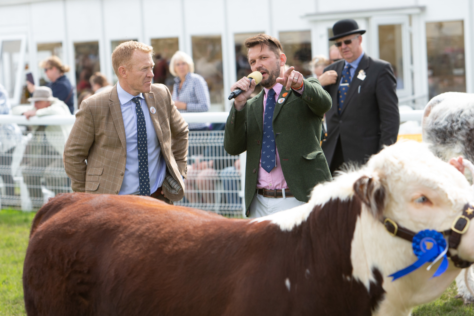 Royal Three Counties Show - Show Ambassador Adam Henson with RBST President Jimmy Doherty.jpg